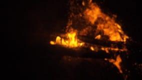 Brand in aard Bokeh van de brand stock videobeelden