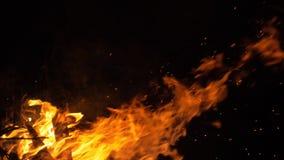 Brand in aard Bokeh van de brand stock footage