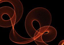 Brand abstracte wervelingen en golven over zwarte Stock Afbeeldingen
