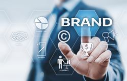 Brand Advertising Marketing Strategy Identity Business Technology concept.  Royalty Free Stock Photo