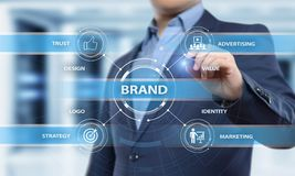 Brand Advertising Marketing Strategy Identity Business Technology concept.  Royalty Free Stock Images