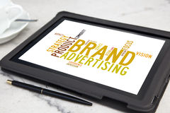 Brand advertising royalty free stock photography