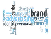 Brand advertising word cloud Stock Photography