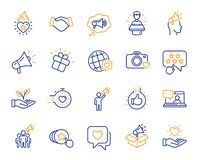 Free Brand Ambassador Line Icons. Influence People, Megaphone And Representative. Vector Royalty Free Stock Images - 152836639