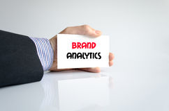 Brand analytics text concept Royalty Free Stock Image