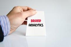 Brand analytics text concept Stock Photography