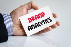 Brand analytics text concept Stock Image
