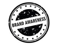 Brand awareness stamp Royalty Free Stock Photo