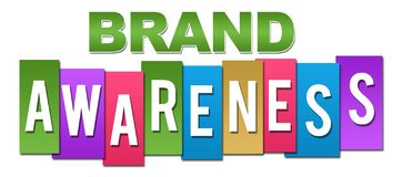 Brand Awareness Professional Colorful stock illustration