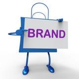 Brand Bag Shows Branding Trademark. Brand Bag Showing Branding Trademark Or Product Label Stock Images