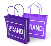 Brand Bags Show Branding Product Label Royalty Free Stock Photos