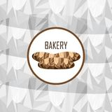 Brand for bakery, marketing material royalty free illustration