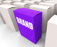 Brand Box Refers to Branding Marketing and Royalty Free Stock Photos