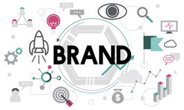 Brand Branding Advertising Commercial Marketing Concept Royalty Free Stock Image