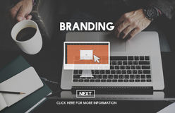 Brand Branding Advertising Commercial Marketing Concept Royalty Free Stock Photos