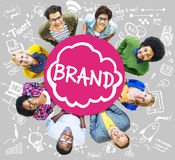 Brand Branding Connection Idea Technology Concept.  royalty free stock image