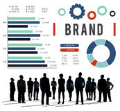 Brand Branding Copyright Advertising Banner Concept Stock Image