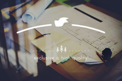 Brand Branding High Quality Exclusive Concept royalty free stock photo