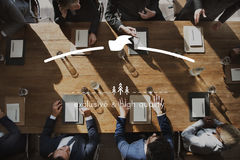 Brand Branding High Quality Exclusive Concept. Business People Team Meeting Concept stock images