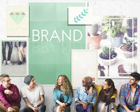 Brand Branding Label Marketing Profile Trademark Concept royalty free stock photos