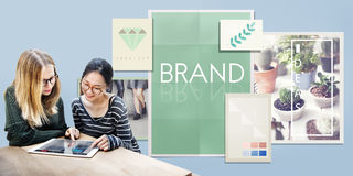 Brand Branding Label Marketing Profile Trademark Concept. Brand Branding Label Marketing Profile Trademark stock image