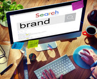 Brand Branding Marketing Advertising Trademark Concept.  stock photo