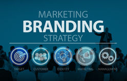 Brand Branding Marketing Commercial Name Concept.  royalty free stock images