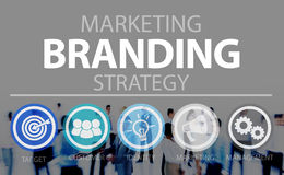 Brand Branding Marketing Commercial Name Concept royalty free stock images