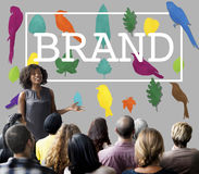 Brand Branding Trademark Logo Copyright Concept. Business Woman Presenting Brand Branding Trademark Logo Copyright stock photography