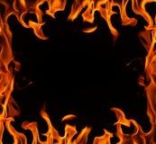 Brand brder op een zwarte achtergrond. Royalty-vrije Stock Afbeeldingen
