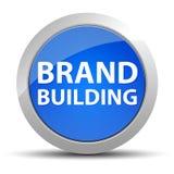 Brand Building blue round button stock illustration