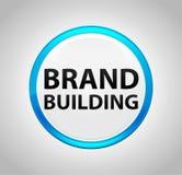 Brand Building Round Blue Push Button vector illustration