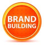 Brand Building Natural Orange Round Button royalty free illustration