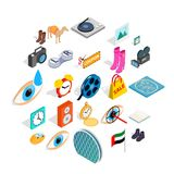 Brand of clothing icons set, isometric style. Brand of clothing icons set. Isometric set of 25 brand of clothing vector icons for web isolated on white Stock Photos