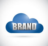 Brand cloud illustration design Royalty Free Stock Photo