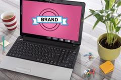 Brand concept on a laptop Stock Photos