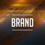 Brand Concept on Retro Triangle Background. Stock Photography