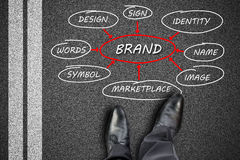 Brand concept on a road Stock Photo