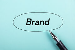 Brand concept Royalty Free Stock Photography