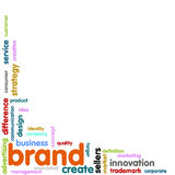 Brand Concept word cloud. Background Stock Photos
