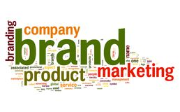 Brand concept in word tag cloud vector illustration