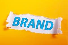 brand Concepto de la tipografía de las palabras del márketing de negocio imagen de archivo