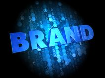 Brand on Dark Digital Background. Stock Images