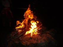 Brand in de nacht Royalty-vrije Stock Foto's