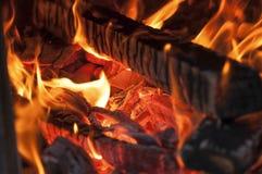Brand in de Oven Achtergrond stock fotografie