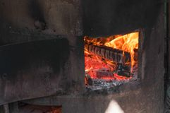 Brand in de Oven Achtergrond royalty-vrije stock afbeeldingen