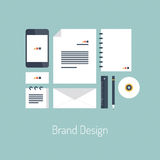 Brand design flat illustration concept Royalty Free Stock Photography