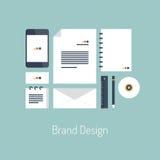 Brand design flat illustration concept vector illustration