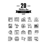 Brand design line icons set Stock Photography