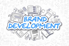 Brand Development - Doodle Blue Word. Business Concept. Stock Photo